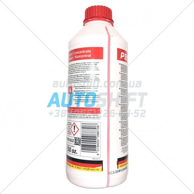 Антифриз Hepu P999 G12 -80С концентрат охлаждающей жидкости красный 1.5L