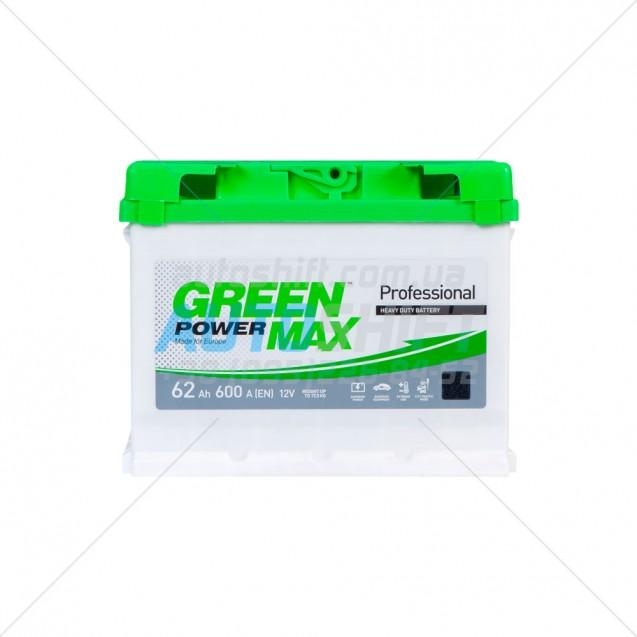 Автомобильный аккумулятор GREEN POWER MAX 62Ah 600A (EN) 12V (Г) (1)